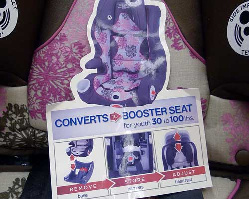 Car Seat Converts to Booster Seat