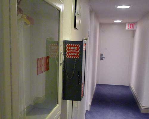 Fire Extinguisher Emergency Exit